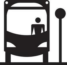 Ônibus, transporte casa-trabalho-casa.